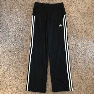 Youth size 10/12 Adidas Black/white sweatpants